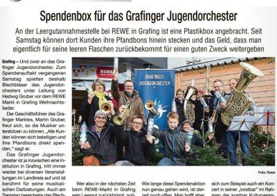 10 Grafinger Jugendorchester Spendenbox im REWE